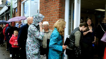Bargain hunters: The new Sue Ryder charity shop opening in Out Northgate, Bury St Edmunds on Saturda