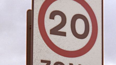 A 20mph speed sign