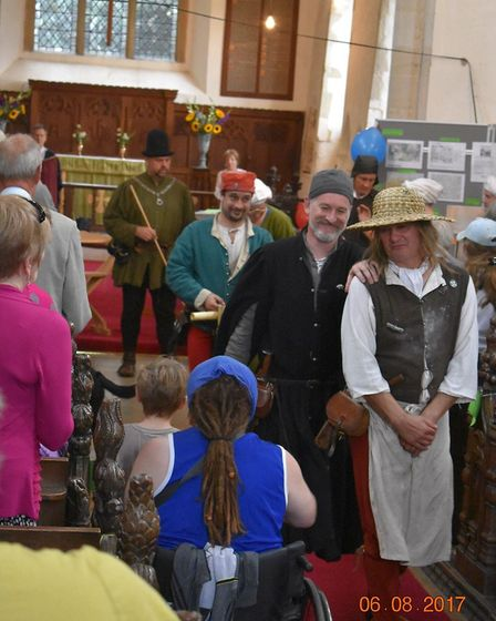 Hundreds enjoy a medieval weekend at Bressingham church. picture: Linda Holly