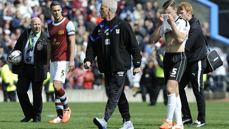 Mick McCarthy after the final whistle at Burnley ended Ipswich's play-off hopes for this season