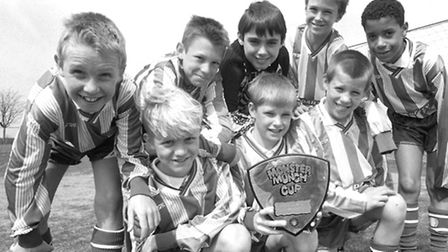 Howard Middle School Bury under 11's six- a- side football team bound for Wemlbey April 1994