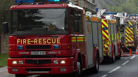 Police and firefighters have been called to the A14 westbound near Needham Market following reports