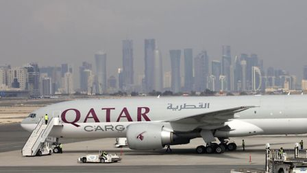 A Qatar Airways' Boeing 777-200 LR Freighter pictured in Doha, Qatar. The airline has launched cargo
