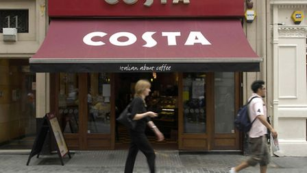 Profits at coffee chain Costa have increased by nearly 22% over the past year.