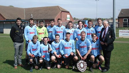 Bungay Town after their Suffolk FA Sunday Shield win over Carlton