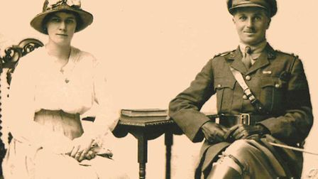 """A wartime picture taken from Wickham Market Archive Centre, titled """"Henry Walne 1917"""""""
