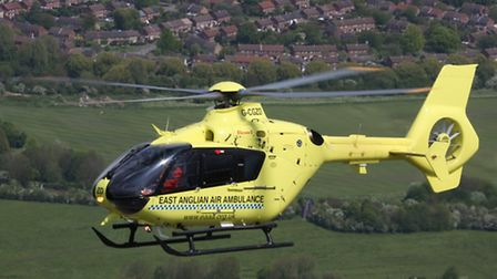 The air ambulance crew were unable to save the man who suffered a cardiac arrest