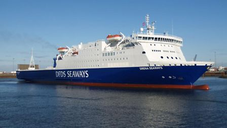 The DFDS Seaways vessel Sirena Seaways which operates on the Harwich-Esbjerg route.
