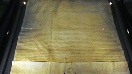 A copy of the Magna Carta at St Edmundsbury Cathedral in Bury St Edmunds.