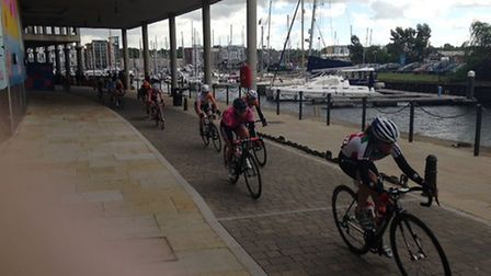 Mike Pennock captured the riders as they passed along the Waterfront, Ipswich