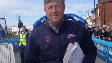 Sweet Spot chief executive Hugh Roberts in Felixstowe before the start of the Women's Tour