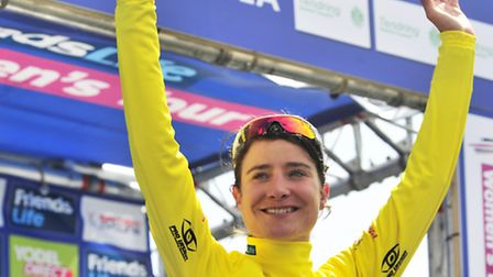 The Life Women's Tour of Britain Stage 3 Clacton finish Stage winner Marianne Vos who also won T