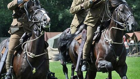 The 16th Lancers re-enactment, which will be at the Colchester Military Tournament 2014.