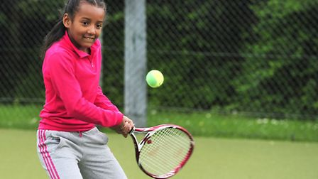 Tennis prodigy Justice Hall, nine, pays tribute to her inspiration, Elena Baltacha, who trained her.