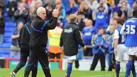 Ipswich Town v Sheffield Wednesday Mick McCarthy thanking fans.