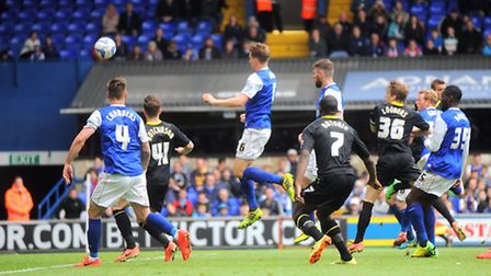 Ipswich Town v Sheffield Wednesday Paul Green scores Town's second goal.