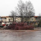 One of the last blocks of Ipswich Academy/Holywells school to be demolished - photo by Andrew Berry