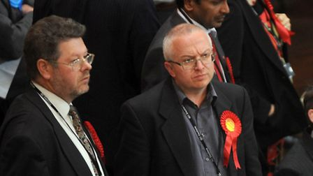 Labour agent John Cook (left, with council leader David Ellesmere) is preparing for another election
