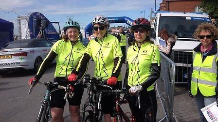 Plomesgate Cycling Club who will be taking part in biking events once the tour has left Felixstowe