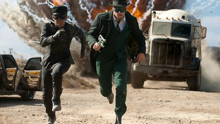 Jay Chou (left) and Seth Rogen star in The Green Hornet. Too many modern superhero films concentrate