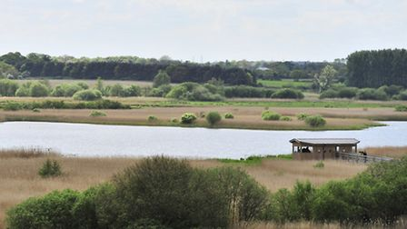 The view from the new studio over the Island Mere.