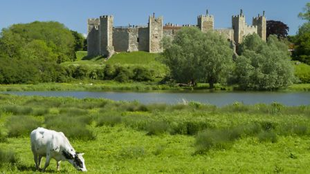 Framlingham Castle by the mere on a beautiful day - David Andrews