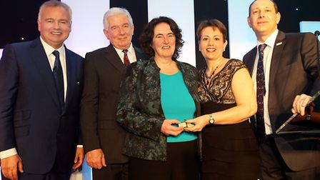 Audrey Furnell of events organiser SGA pictured with Eamonn Holmes and Ford Retail board members re