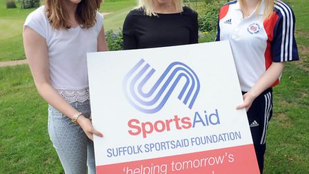 The Sports Aid lunch in Fornham St Genevieve. Left to right, Rebecca Sherwin, Gail Emms and Larissa