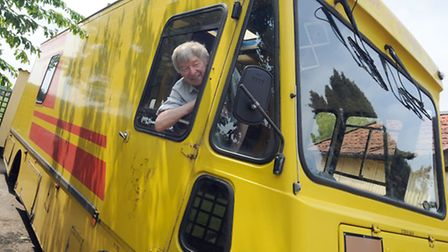 Mick Ruddy is retiring from his fish and chips van business after 45 years. Mick is pictured at his