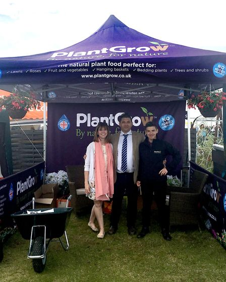 The Suggitts infront of the PlantGrow trade stand. picture:SUGGITT
