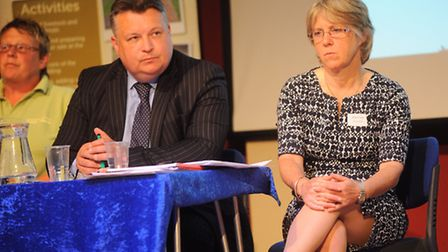 Care farm conference at Corn Hall, St Nicholas Street, Diss. Pictured right is The National Farmers'
