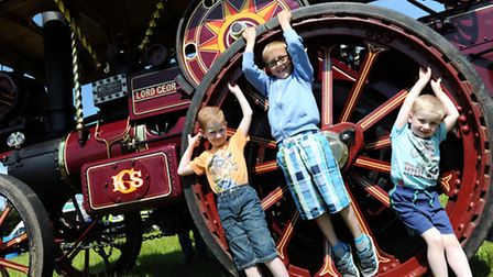 Woolpit Steam Rally Christopher sparling, Alfie waters and Luke sparling