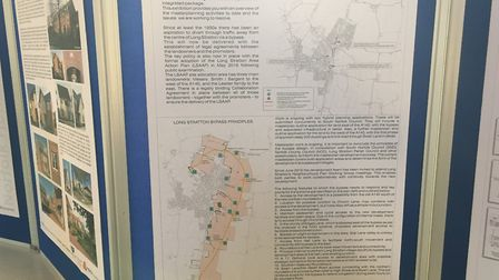 Residents can view the application for 1,800 homes and a bypass at an exhibition at the Methodist Ch