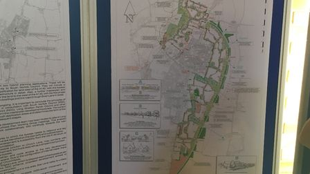 Exhibition on view at the Methodist Church on Manor in Long Stratton road for new homes and a bypass