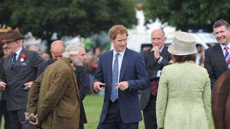HRH Prince Harry visits the Suffolk Show 2014.