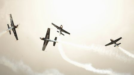 The Seething charity air show. The Blades formation aerobatic team. Picture: DENISE BRADLEY