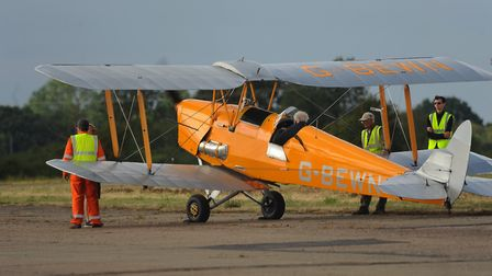 The Seething charity air show. The Tiger Moth gets ready for it's display. Picture: DENISE BRADLEY