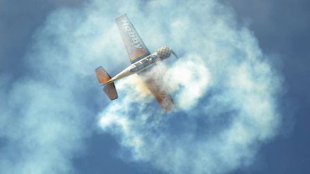 The Seething charity air show. The Yak 52. Picture: DENISE BRADLEY