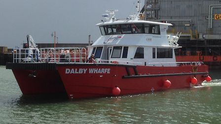 The Dalby Wharfe support vessel.