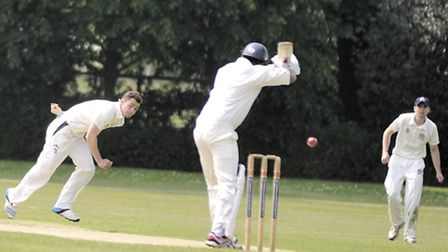 Copdock and Old Ipswichian field against Norwich during a match on Saturday, 17 May.