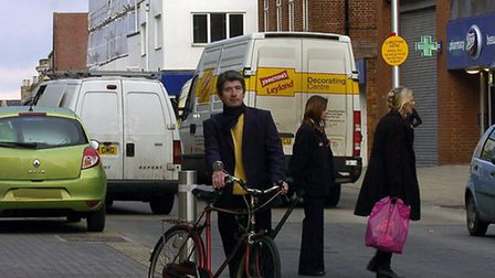 Councillor Paul Farmer pictured in St Andrew's Street South in 2010