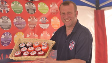 Ipswich Food Fest at the Waterfront. Keith Jenkins of the Great British Cheese Company.