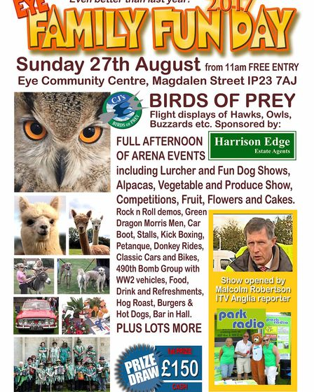 A Family Fun Day will be held at Eye Community Centre on Sunday August 27. Picture: Andrew Brown