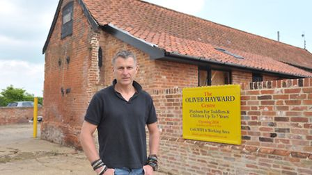 Guy Hayward of Bridge Farm is creating a playbarn in Wickham Market as a tribute to two of the child