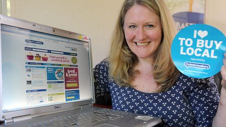 Penny Wilby has set up a website promoting local business. Penny is pictured at home in Boxford.
