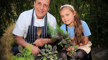 Orford Primary School celebrating the annual Food Revolution Day with celebrity chef Gennaro Contald