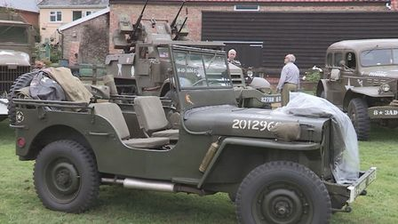 490th Bomb group jeep with other vehicles will be on display at the Eye Family Fun Day. Picture: And