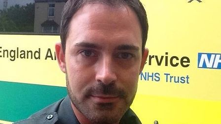 Brave paramedic Paul Gibson, who pulled a young woman from a burning flat