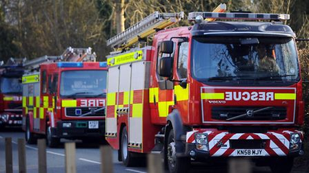A total of 10 fire engines attended the thatched roof fire