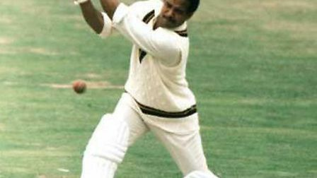 Sir Garfield Sobers in action for the West Indies.